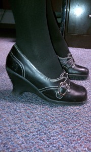 shoes by Fluevog.