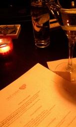 menu and cocktail