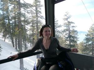 Me, in the gondola, wearing the long sleeve zip t in 2008.