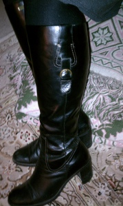 "Liz Claiborne ""Marley"" boot, going on 15 years old now. They need to be re-heeled but that's it."