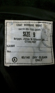 Label in my coat.