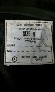 Label in my coat.
