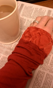 Silk cuff, cotton shirt.