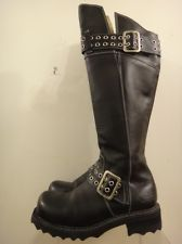 Fluevog Bond Girl Maxi Motorcycle boots.