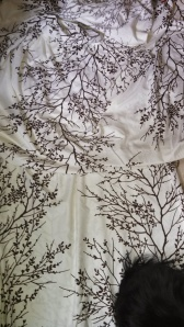 Bedsheet, repurposed for fabric. The fabric content is less than ideal, but isn't it pretty?