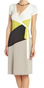 BCBG Greer Color-Blocked Wrap Dress, from BCBG.Com
