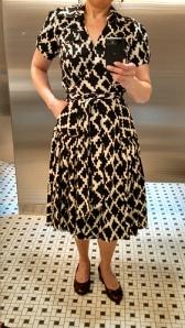 Diane von Furstenberg cotton wrap dress from TheRealReal.