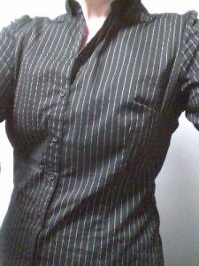 Stretch pinstripe shirt from H&M