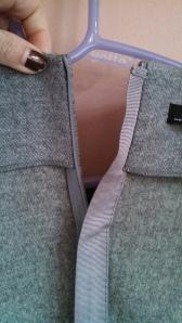 Ribbon detail in Zara wool dress