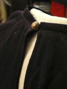 Folkwear Cloister dress, button detail.