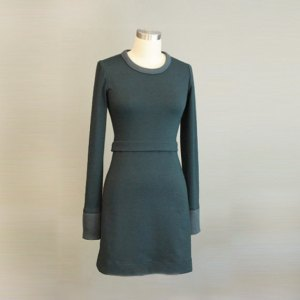 Rib dress in hunter green, from Etsy, photo from shop.
