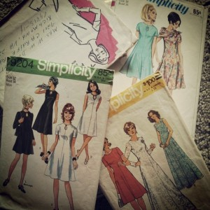Vintage patterns from the 1960's and 1970s.