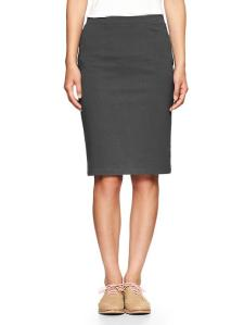 Knit pencil skirt from the Gap.